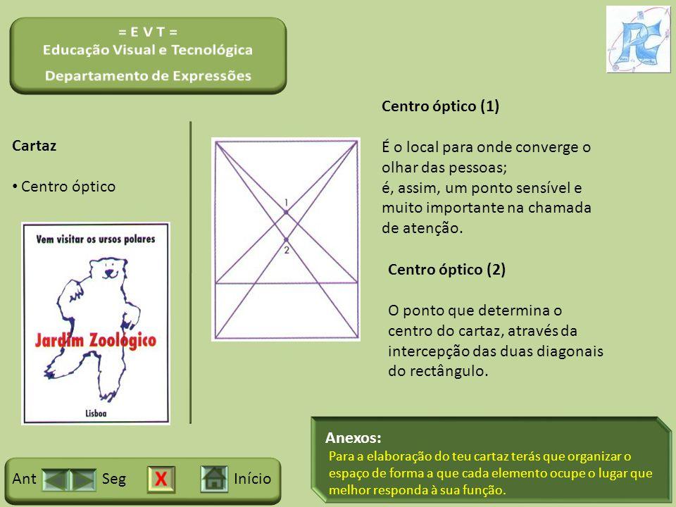 Anexos: InícioSegAnt Cartaz Centro óptico Centro óptico (1) É o local para onde converge o olhar das pessoas; é, assim, um ponto sensível e muito impo