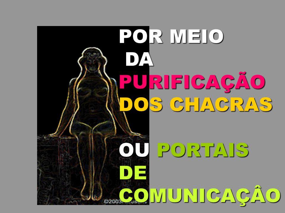 POR MEIO DA PURIFICAÇÃO DOS CHACRAS OU PORTAIS DE COMUNICAÇÂO