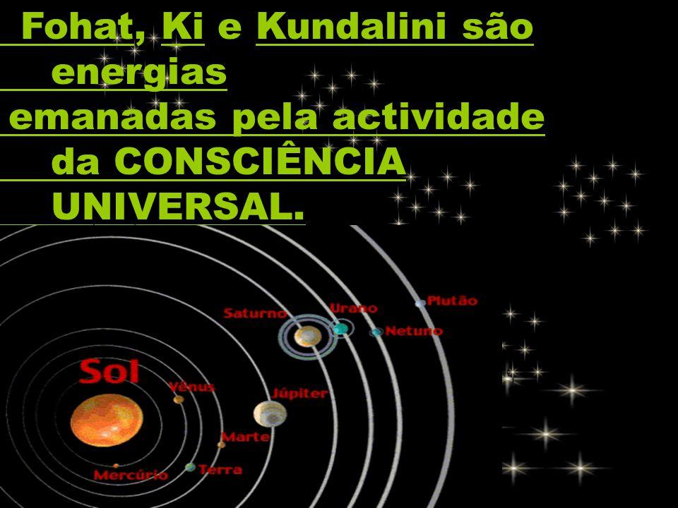 Fohat, Ki e Kundalini são energias emanadas pela actividade da CONSCIÊNCIA UNIVERSAL.