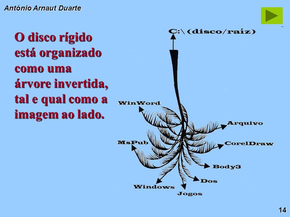 14 António Arnaut Duarte O disco rígido está organizado como uma árvore invertida, tal e qual como a imagem ao lado.