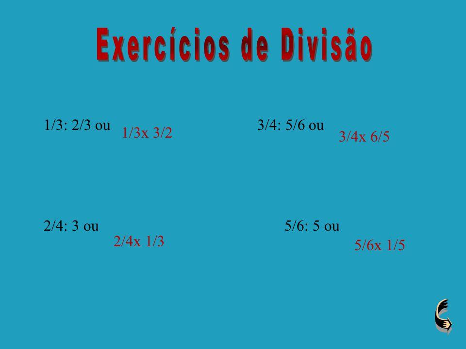 Na divisão de fracções divide-se o numerador de uma fracção pelo numerador da outra fracção, esta técnica também é aplicada ao denominador das fracçõe