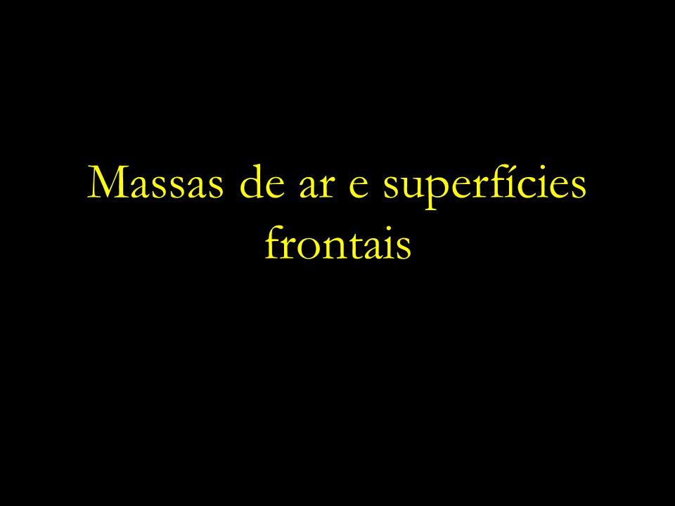 Massas de ar e superfícies frontais