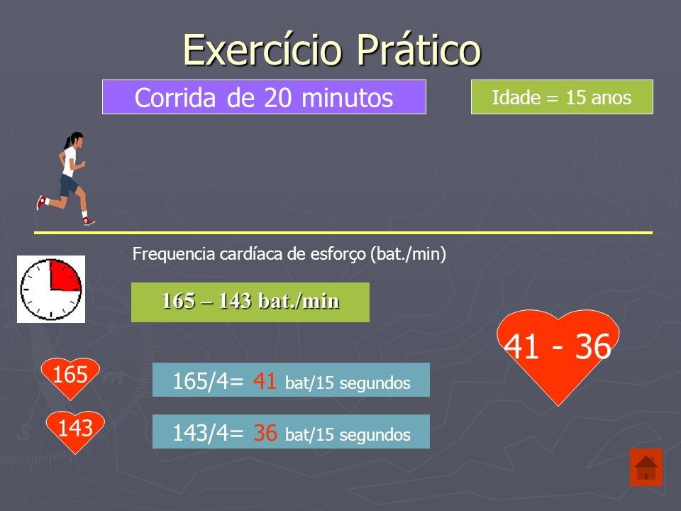 Tipo de Esforço %Esforço Ritmo óptimo para: Muito Fácil 50-60% Duração: 20-60 min Em níveis de intensidade baixos, o corpo escolhe a gordura como combustível para os músculos em actividade.