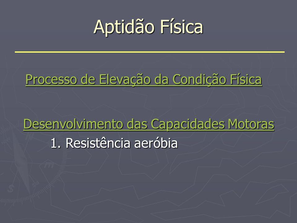 Processo de Elevação e manutenção da Condição Física O treino é um processo que visa aperfeiçoar o desempenho de uma tarefa, aumentando o rendimento de um indivíduo.