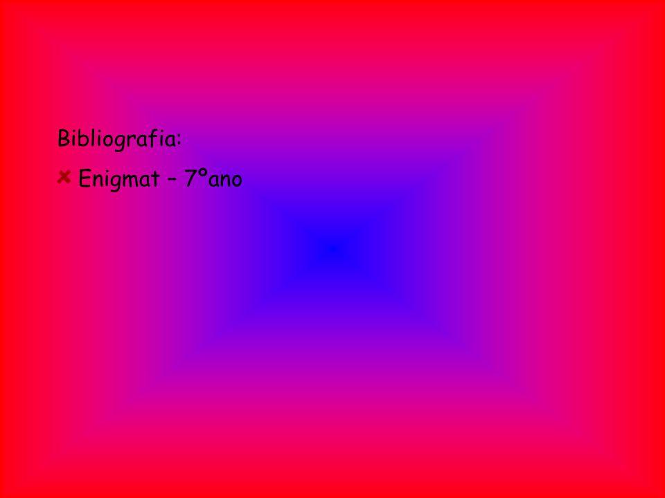 Bibliografia: Enigmat – 7ºano