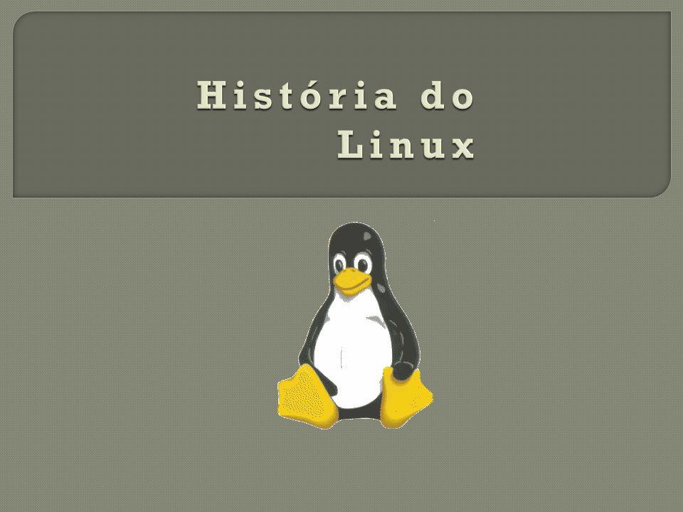 O nome Linux surgiu da mistura de Linus + Unix.