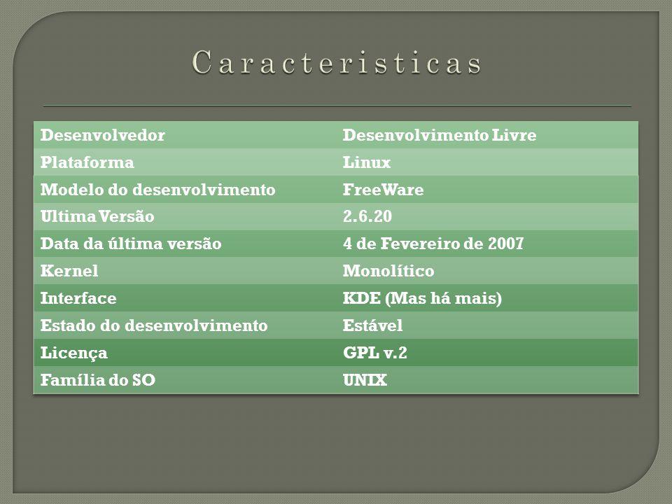 1ª Comparação Desktop (Ambiente de trabalho) Windows ( O meu ) Linux