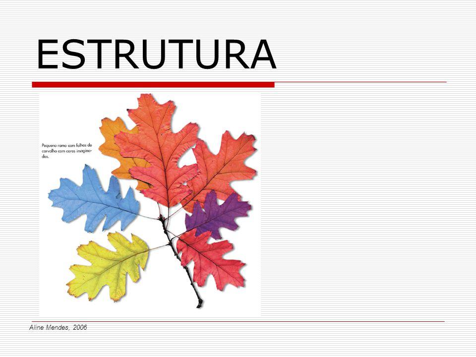 ESTRUTURA As formas criadas pelo Homem, as formas naturais e as composições ordenadas, segundo um esquema lógico, dizem-se estruturadas.