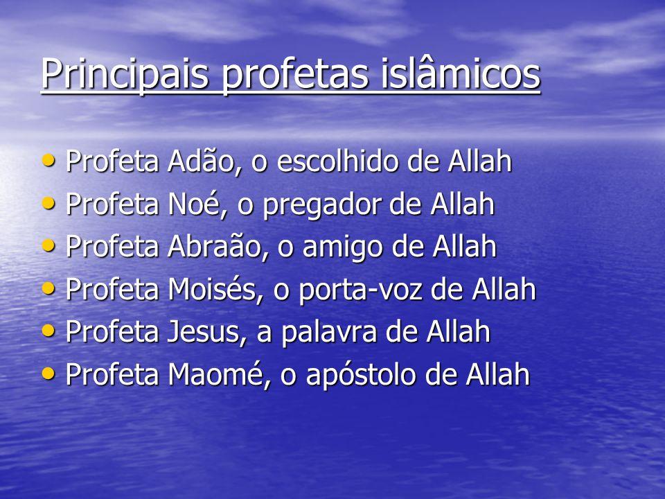 Principais profetas islâmicos Profeta Adão, o escolhido de Allah Profeta Adão, o escolhido de Allah Profeta Noé, o pregador de Allah Profeta Noé, o pr
