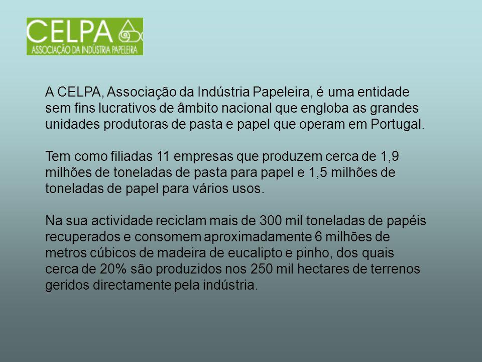 A CELPA, Associação da Indústria Papeleira, é uma entidade sem fins lucrativos de âmbito nacional que engloba as grandes unidades produtoras de pasta
