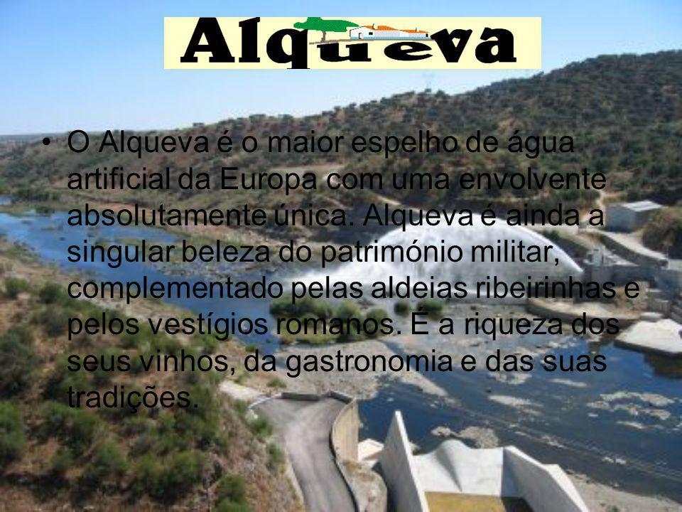 O Alqueva é o maior espelho de água artificial da Europa com uma envolvente absolutamente única. Alqueva é ainda a singular beleza do património milit