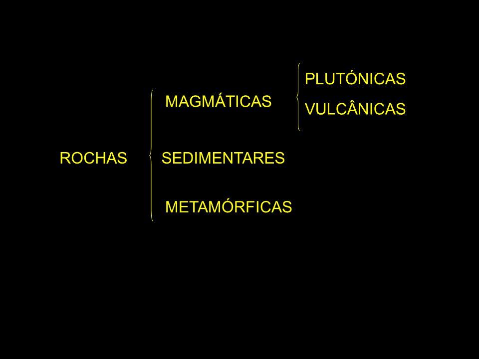 Rochas magmáticas As rochas magmáticas ou ígneas formam-se por cristalização do magma.