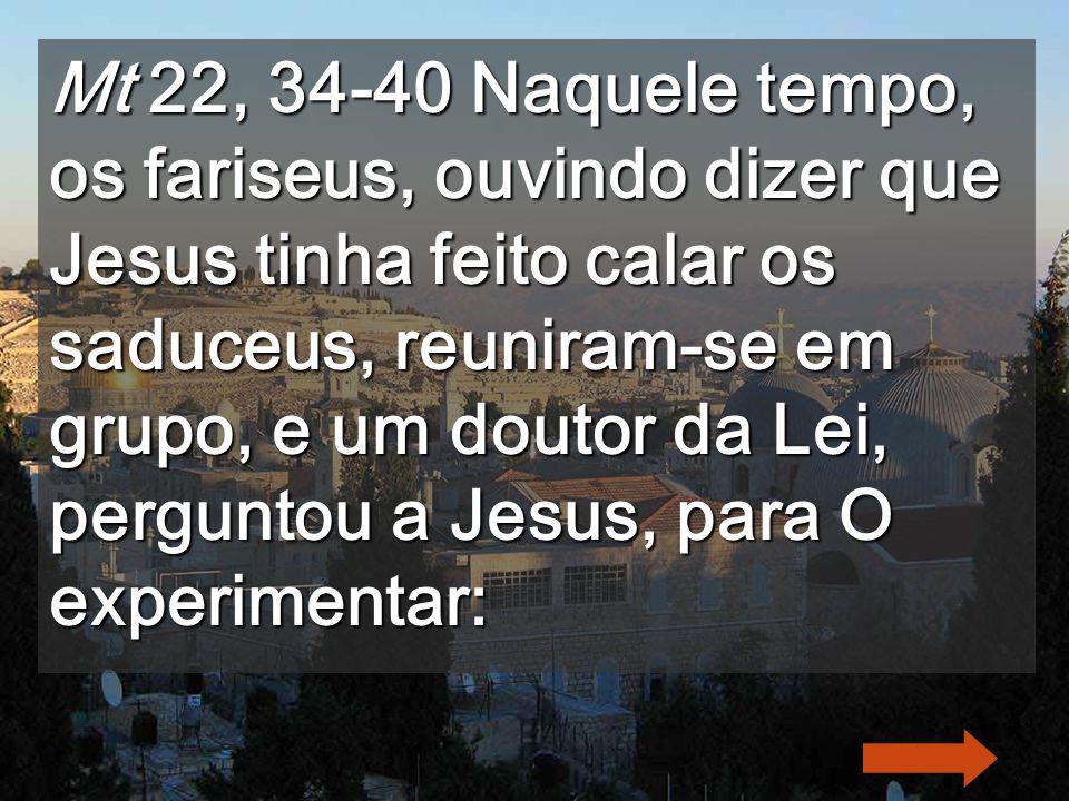 Aos estudiosos das 613 leis judaicas Jesus disse-o próximo dos muros do Templo