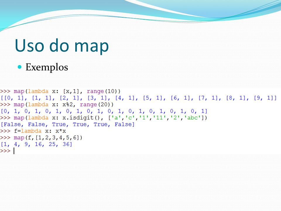 Uso do map Exemplos