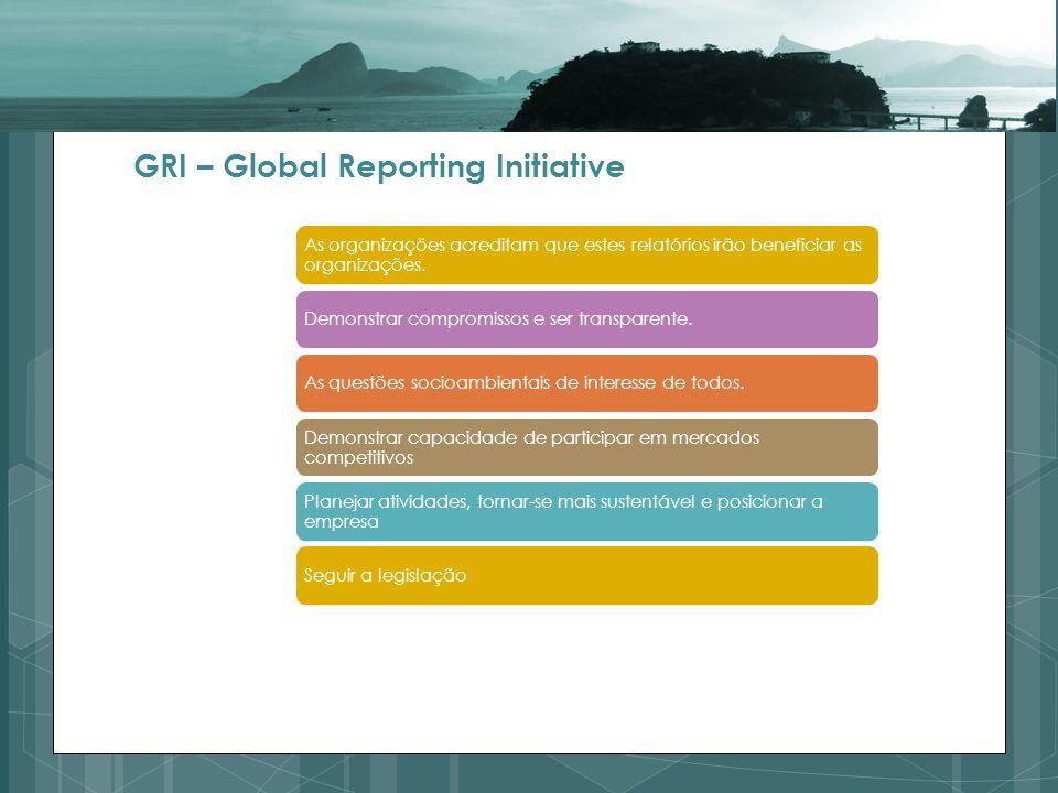 As organizações acreditam que estes relatórios irão beneficiar as organizações.