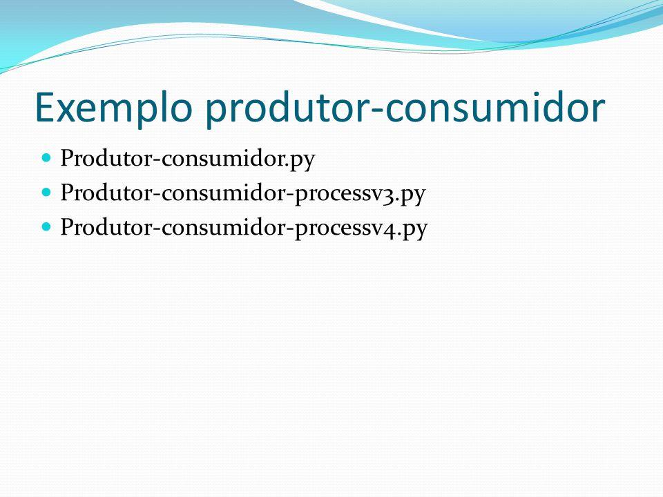 Exemplo produtor-consumidor Produtor-consumidor.py Produtor-consumidor-processv3.py Produtor-consumidor-processv4.py