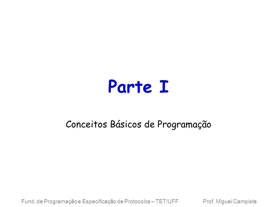 Fund.de Programação e Especificação de Protocolos – TET/UFF Prof.