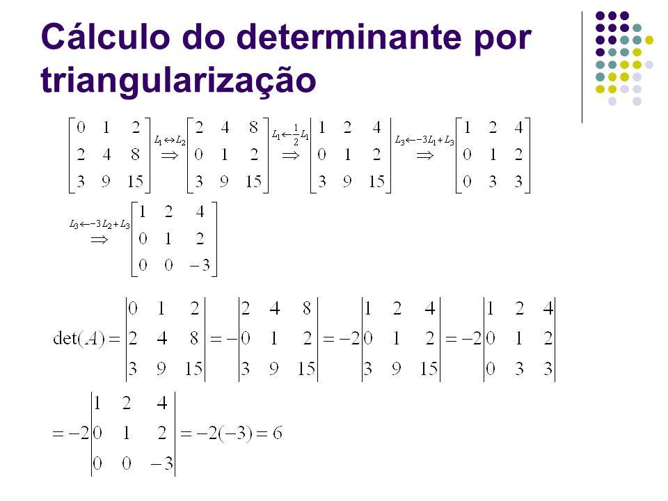 Cálculo do determinante por triangularização