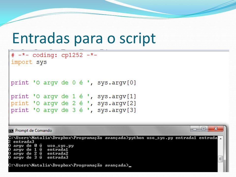Módulo sys sys.path Mostra o valor da variável de ambiente pythonpath A pythonpath é utilizada para buscar os módulos que estão sendo incluídos no código