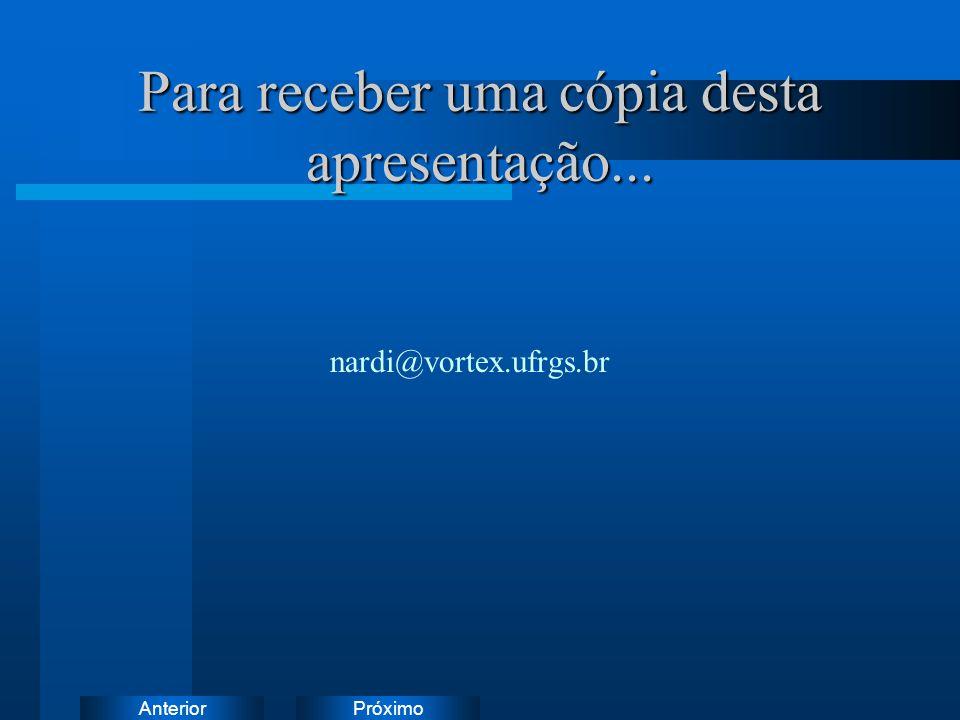 PróximoAnterior Para receber uma cópia desta apresentação... nardi@vortex.ufrgs.br