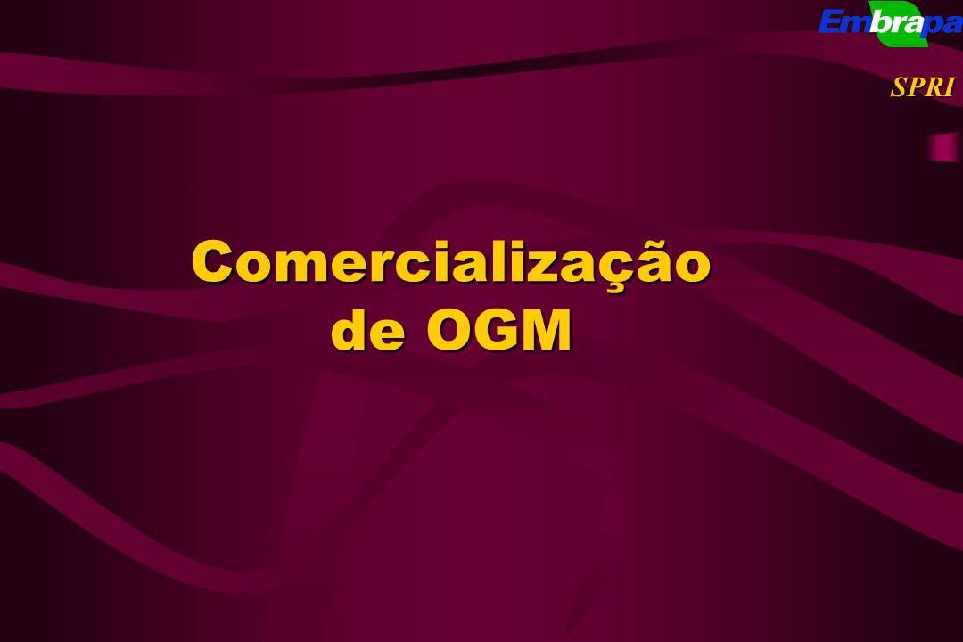 Comercialização de OGM SPRI