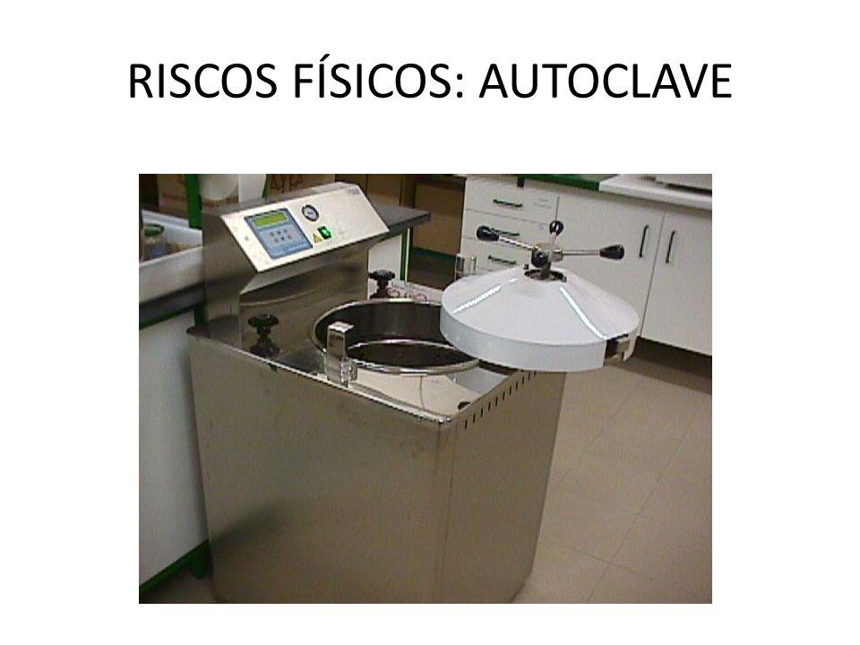 RISCOS FÍSICOS: AUTOCLAVE