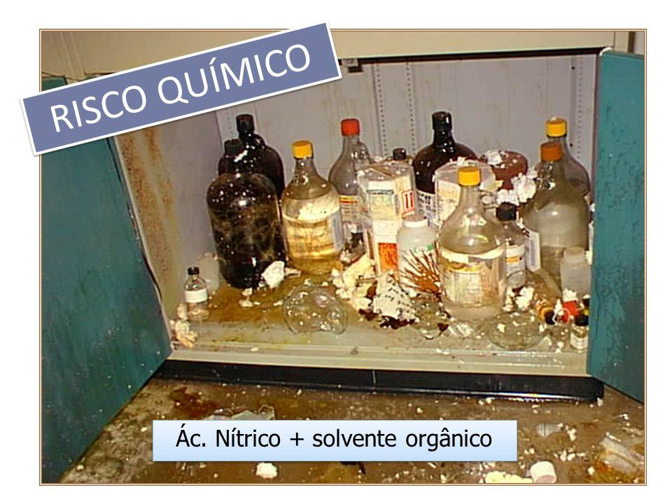 Ác. Nítrico + solvente orgânico RISCO QUÍMICO