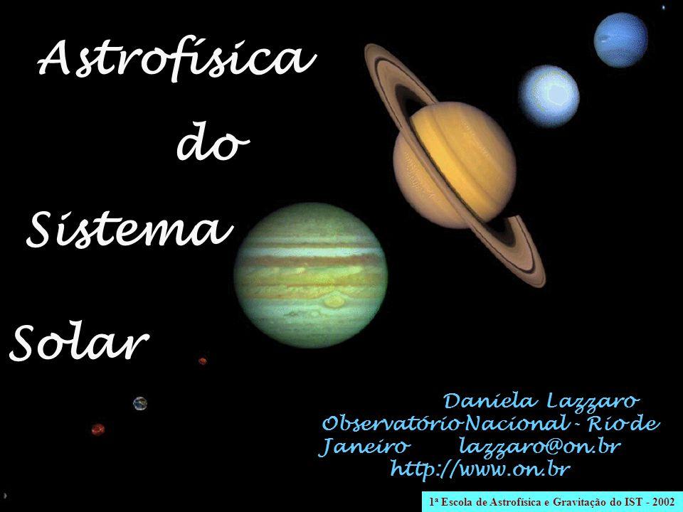 Daniela Lazzaro Observatório Nacional - Rio de Janeiro lazzaro@on.br http://www.on.br Astrofísica do Sistema Solar 1 a Escola de Astrofísica e Gravita