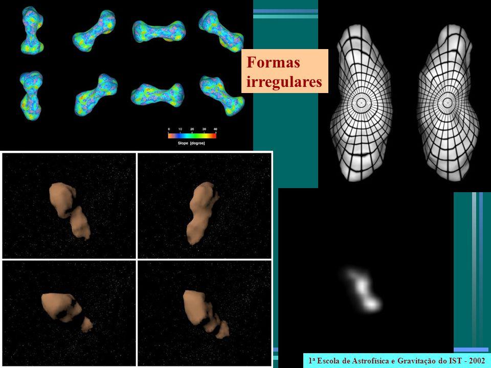 Formas irregulares 1 a Escola de Astrofísica e Gravitação do IST - 2002