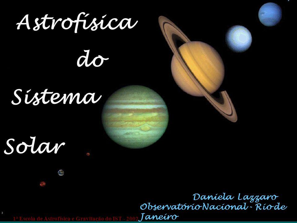 Daniela Lazzaro Observatório Nacional - Rio de Janeiro Astrofísica do Sistema Solar 1 a Escola de Astrofísica e Gravitação do IST - 2002