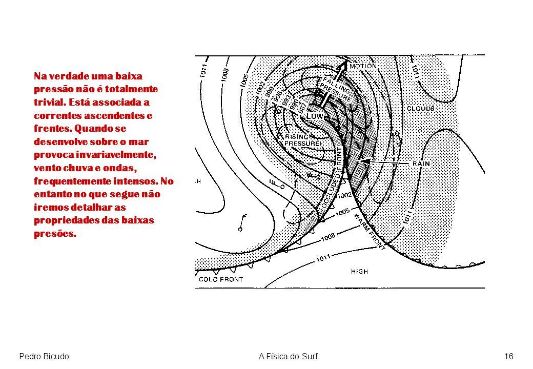 Pedro BicudoA Física do Surf16 Na verdade uma baixa pressão não é totalmente trivial. Está associada a correntes ascendentes e frentes. Quando se dese