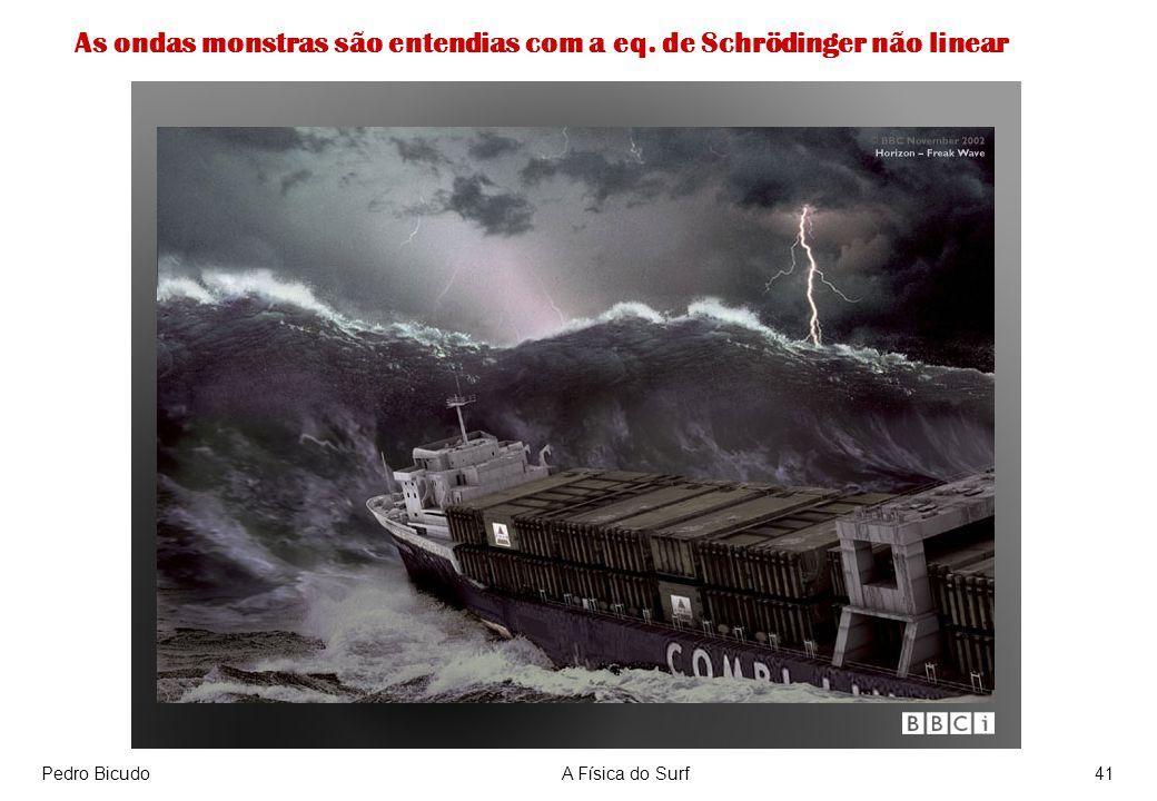 Pedro BicudoA Física do Surf41 As ondas monstras são entendias com a eq. de Schrödinger não linear