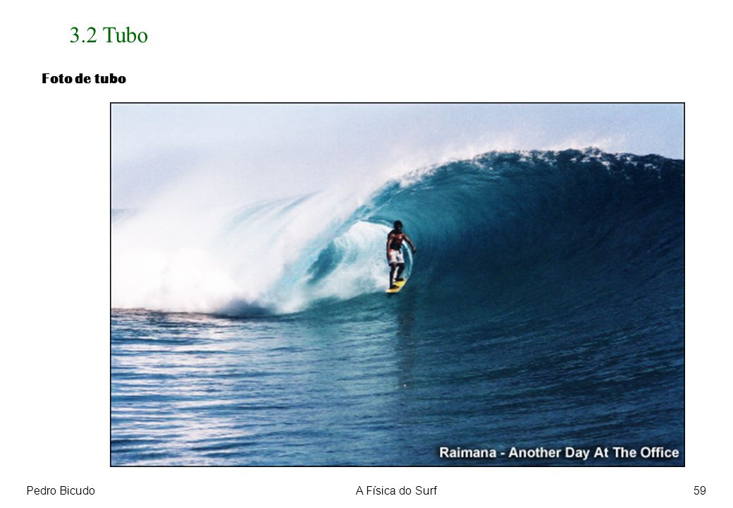 Pedro BicudoA Física do Surf59 3.2 Tubo Foto de tubo