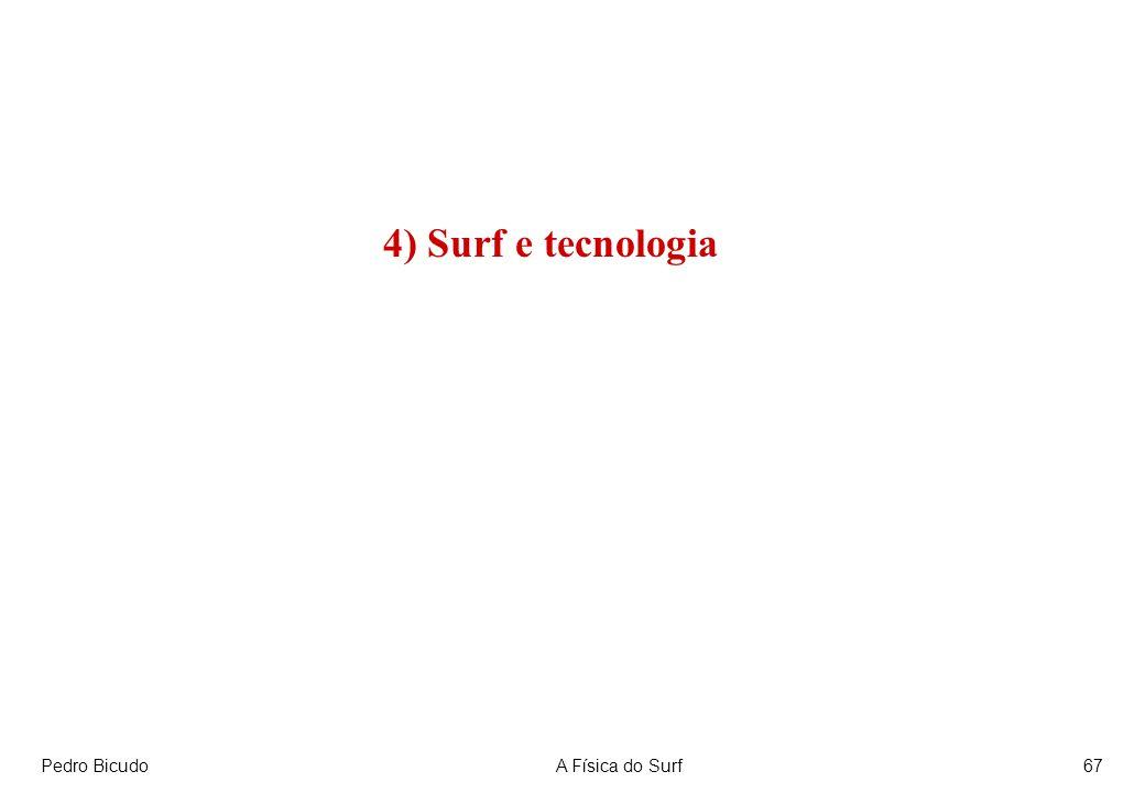 Pedro BicudoA Física do Surf67 4) Surf e tecnologia