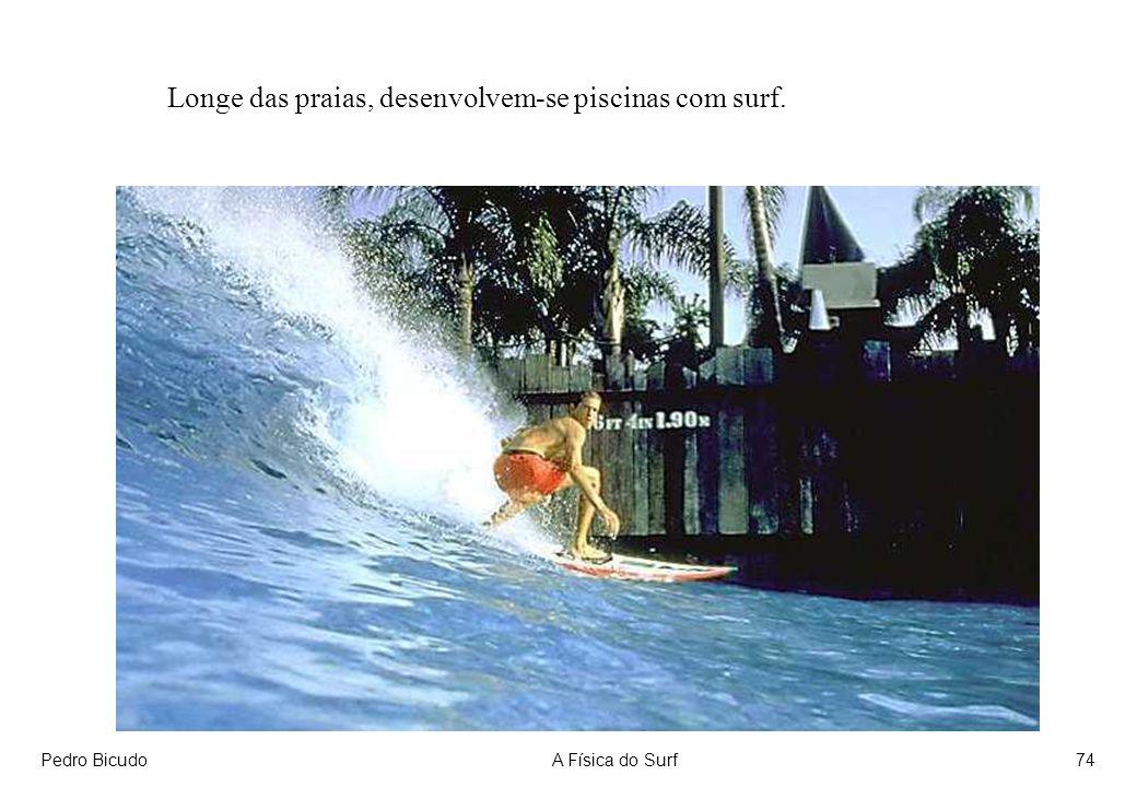 Pedro BicudoA Física do Surf74 Longe das praias, desenvolvem-se piscinas com surf.