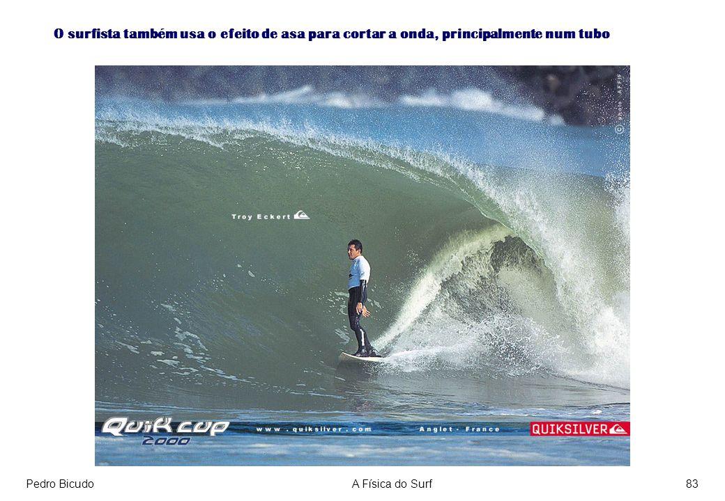 Pedro BicudoA Física do Surf83 O surfista também usa o efeito de asa para cortar a onda, principalmente num tubo