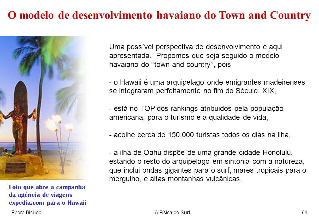 Pedro BicudoA Física do Surf94 Uma possível perspectiva de desenvolvimento é aqui apresentada. Propomos que seja seguido o modelo havaiano do town and