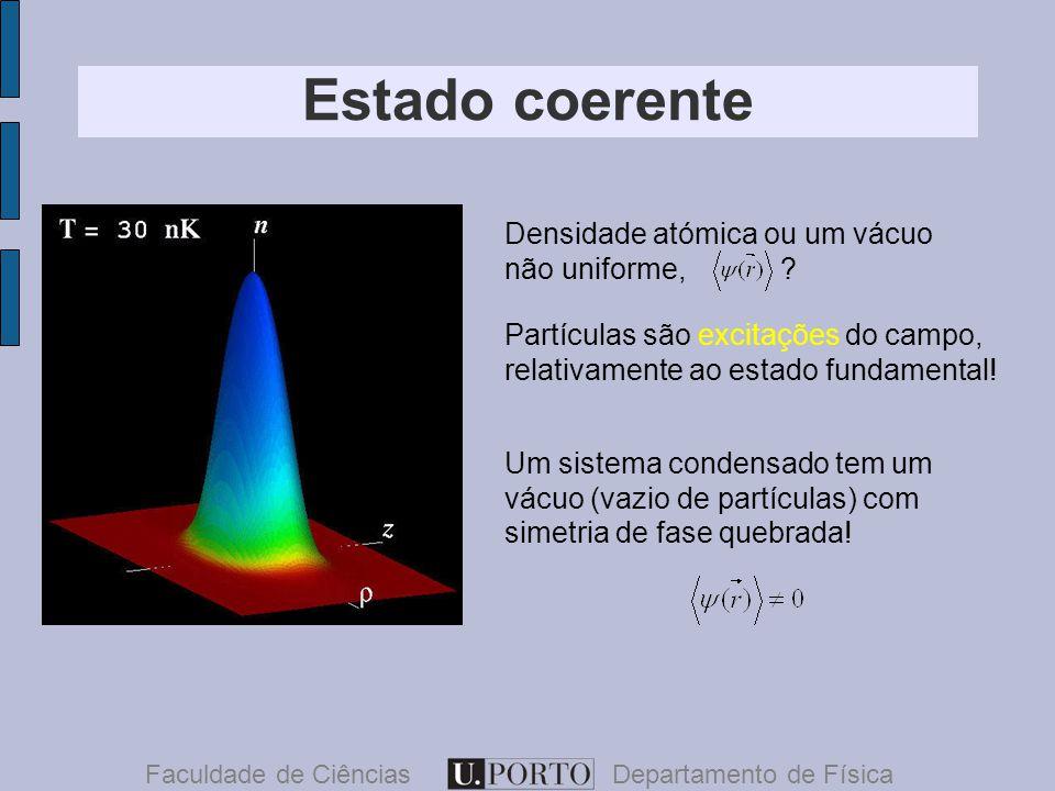 Estado coerente Faculdade de CiênciasDepartamento de Física Densidade atómica ou um vácuo não uniforme, .