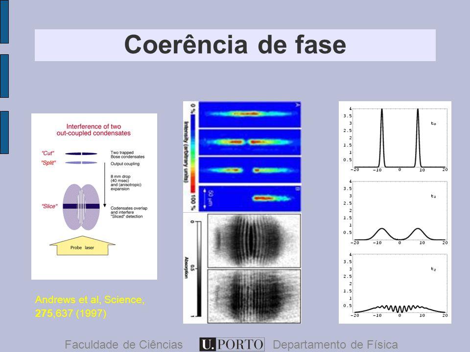 Coerência de fase Faculdade de CiênciasDepartamento de Física Andrews et al, Science, 275,637 (1997)