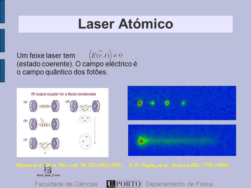 Laser Atómico Faculdade de CiênciasDepartamento de Física Um feixe laser tem (estado coerente).