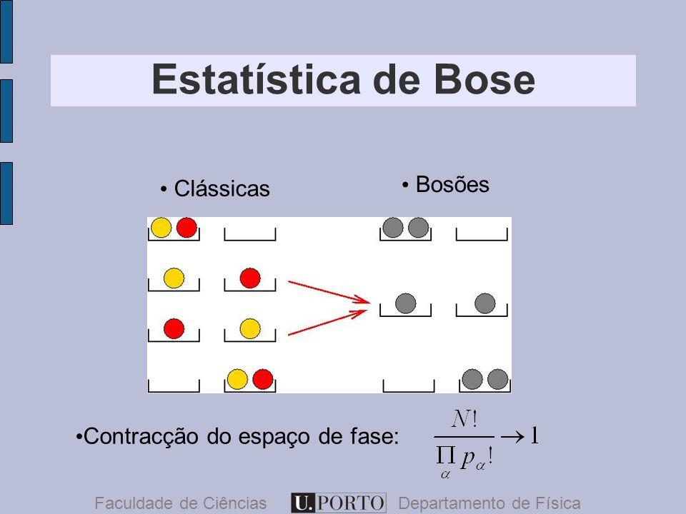 Faculdade de CiênciasDepartamento de Física Clássicas Bosões Contracção do espaço de fase: Estatística de Bose