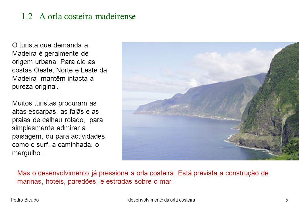 Pedro Bicudodesenvolvimento da orla costeira5 1.2 A orla costeira madeirense O turista que demanda a Madeira é geralmente de origem urbana.