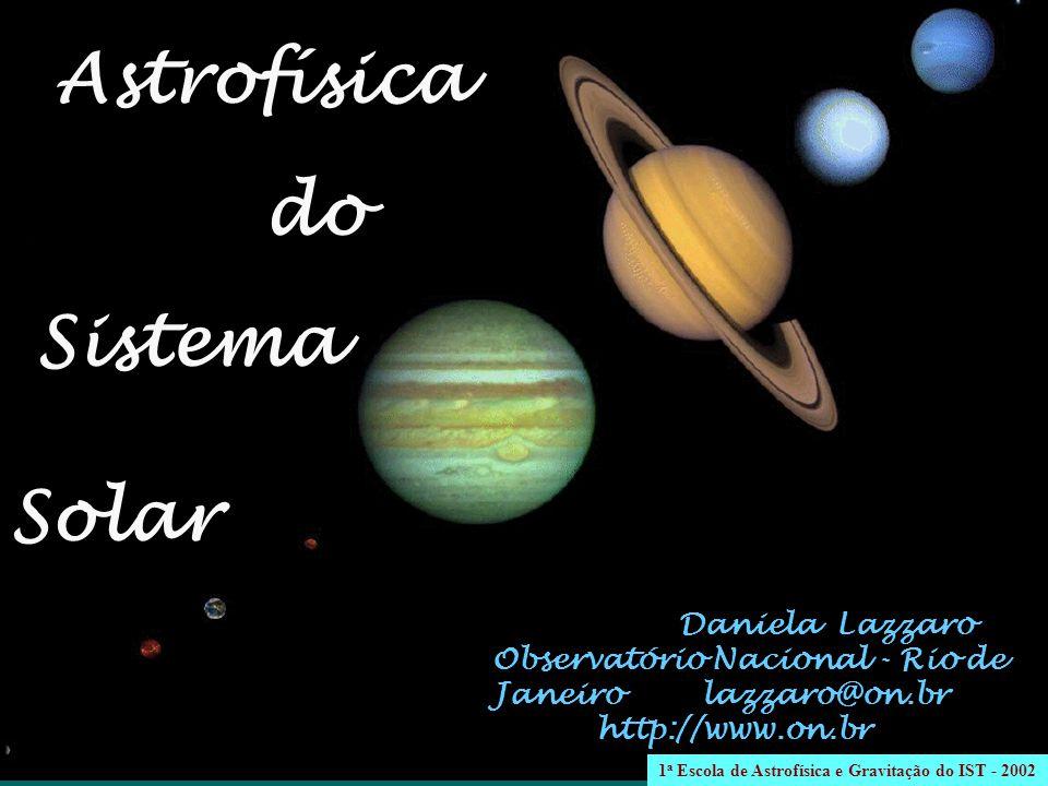 Daniela Lazzaro Observatório Nacional - Rio de Janeiro lazzaro@on.br http://www.on.br Astrofísica do Sistema Solar 1 a Escola de Astrofísica e Gravitação do IST - 2002