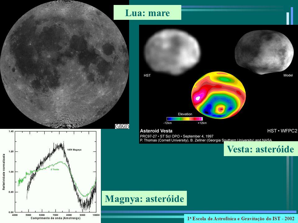 Lua: mare Vesta: asteróide Magnya: asteróide 1 a Escola de Astrofísica e Gravitação do IST - 2002