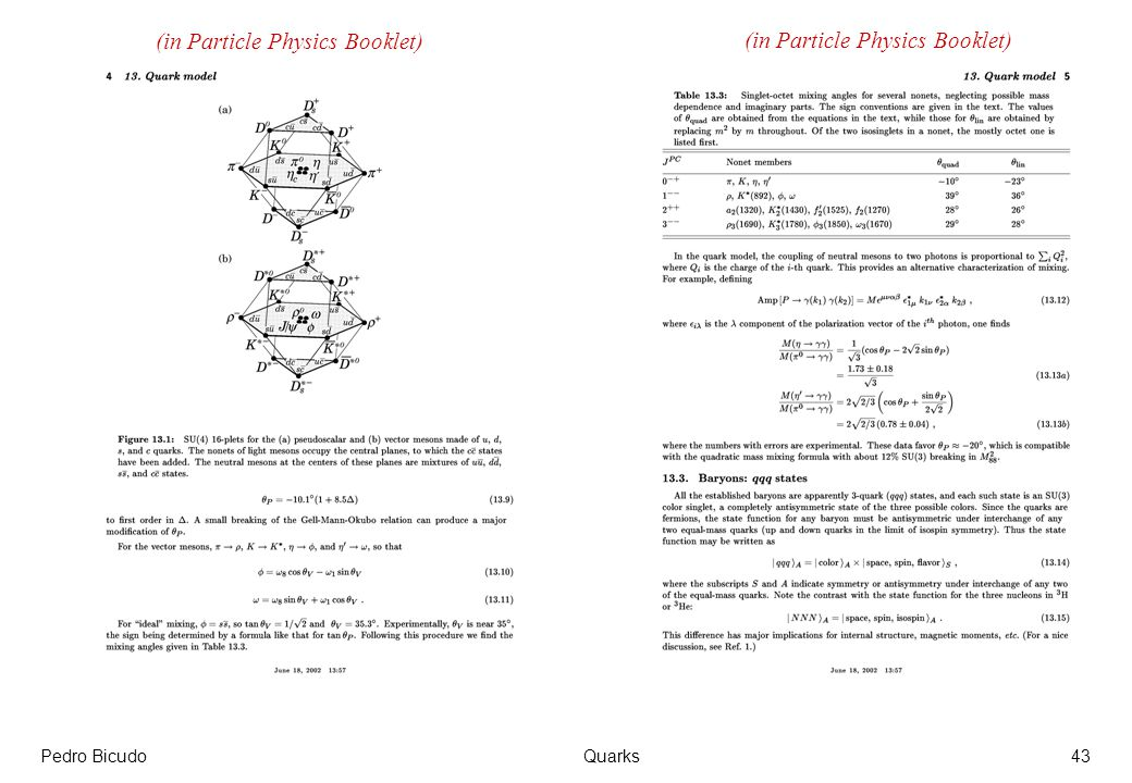 Pedro BicudoQuarks43 (in Particle Physics Booklet)