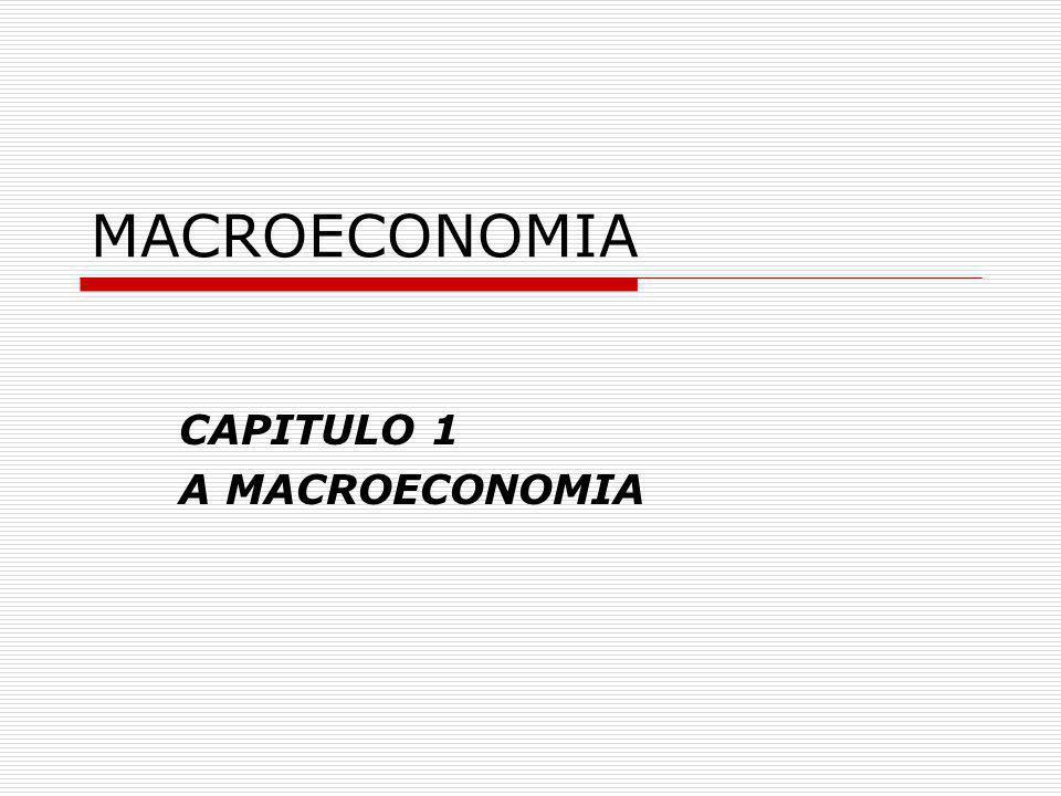 GENERALIDADES DEFINIÇÃO HISTÓRIA DA MACROECONOMIA POSITIVISMO E NORMATIVIDADE MICROECONOMIA E MACROECONOMIA QUESTÕES DA MACROECONOMIA A PROBLEMÁTICA DA MACROECONOMIA CRESCIMENTO DO PRODUTO E NIVEIS DE VIDA PRODUTIVIDADE O CICLO ECONÓMICO A TAXA DE DESEMPREGO INFLAÇÃO INTERDEPENDÊNCIA INTERNACIONAL POLITICAS MACROECONÓMICAS POLITICA MONETÁRIA POLITICA ORÇAMENTAL POLITICAS ESTRUTURAIS OS MODELOS NA MACROECONOMIA PROGRAMA
