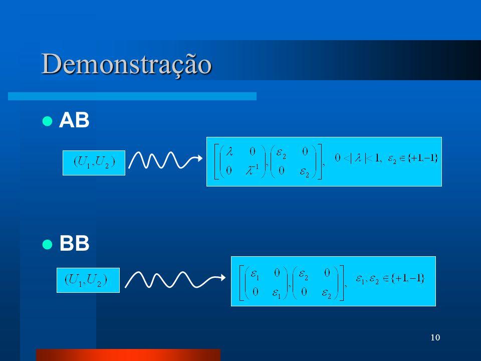 10 Demonstração AB BB