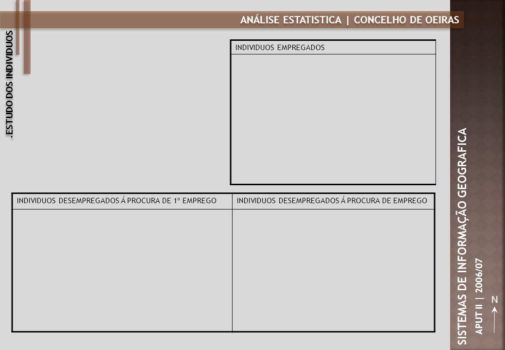 ANÁLISE ESTATISTICA | CONCELHO DE OEIRAS N SISTEMAS DE INFORMAÇÃO GEOGRAFICA APUT II | 2006/07 INDIVIDUOS DESEMPREGADOS Á PROCURA DE 1º EMPREGOINDIVID