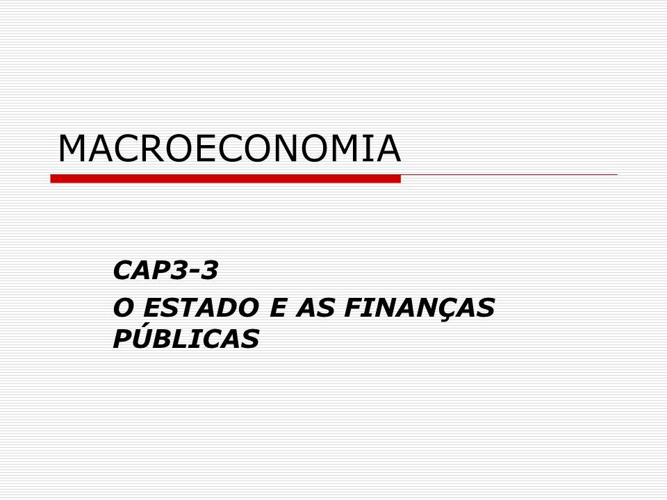 MACROECONOMIA CAP3-3 O ESTADO E AS FINANÇAS PÚBLICAS