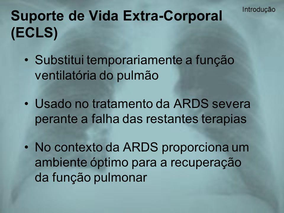 Substitui temporariamente a função ventilatória do pulmão Usado no tratamento da ARDS severa perante a falha das restantes terapias No contexto da ARD